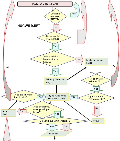 sex flowchart 1 Sex Cartoon + Funny MySpace Pictures