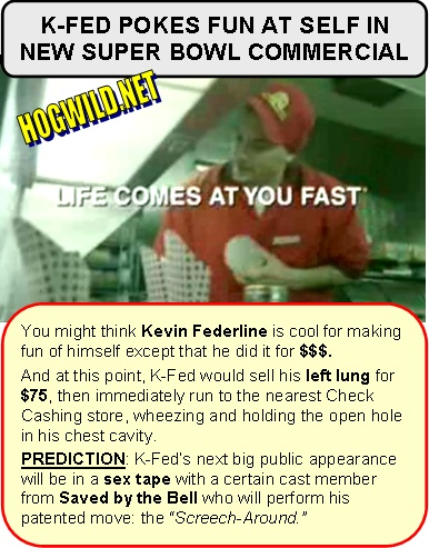 kevin federline super bowl commercial