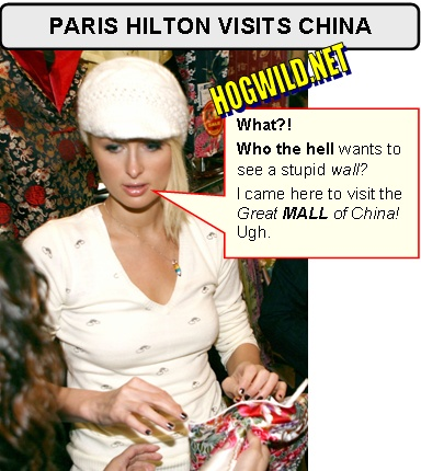 paris hilton goes to China
