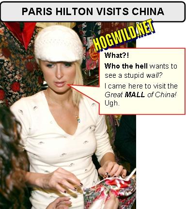 paris hilton goes to China