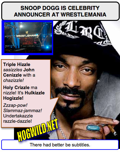 wrestlemania 24 pictures: snoop dogg