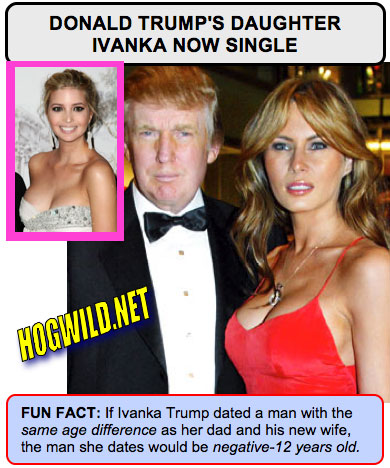 funny myspace pictures: ivanka trump donald trump