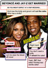 funny myspace pictures: beyonce jay-z wedding