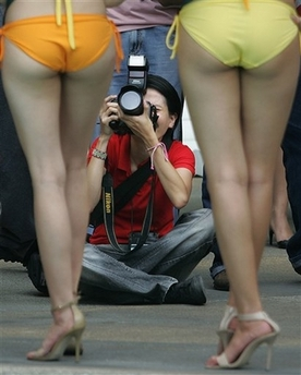 As you can see, those are butts. Butts produce greenhouse gases that ...