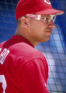 Chris Sabo found it hard to see the ball through his super-thick coke bottle goggles.