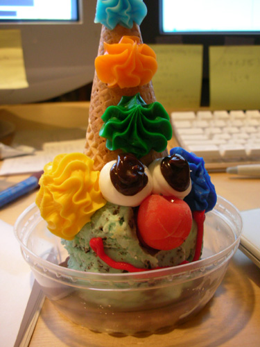 ice cream clown