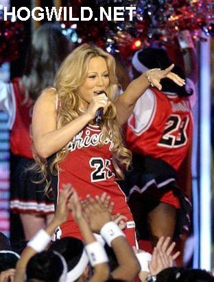 NBA All-Star Game. Slam Dunk. Pictures of Michael Jordan, Mariah