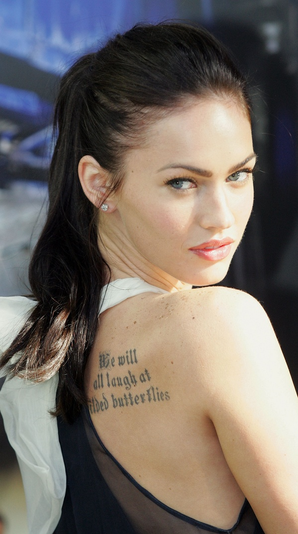 Amelie D. Broussard Megan.fox-tattoo-back