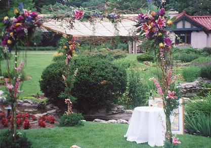 "Need a bride?  Step 1: Set up beautiful flowers in a garden while wearing pants that have a stupid stripe down the leg.  Step 2:  Wait.  Step 3: Choose from the scores of bims who flock to you with their eyes glazed, mouthing the words, ""He's the One.  Flowers.  Fancy Pants.  Me want Hubby."""